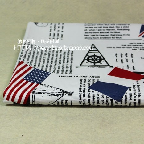 English newspapers cotton canvas fabric sofa cloth tablecloths curtain American flag to half a meter price(China (Mainland))