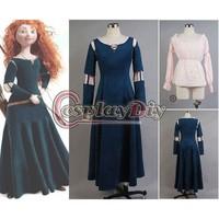 Free Shipping Customized Brave Princess Merida Dress Princess Merida Costume Dress