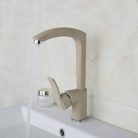 Cream-coloured Faucets,Mixers &Taps Newly Swivel Hot And Cold Mixer Tap Solid Brass Painting Bathroom Faucet DS-92280