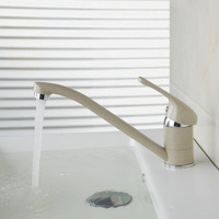 Cream-coloured Solid Brass Faucets,Mixers &Taps Newly Swivel Hot And Cold Mixer Tap Painting Bathroom Faucet DS-92426