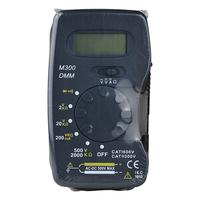 M300 Handheld 3 1/2 Digit LCD DMM Digital Multimeter Measure DC AC Voltage Current Amp Resistance Diode Continuity Test