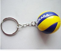M-I-K-A-S-A ! beach volleyball  key ring business 5 pieces/lot gift sport goods
