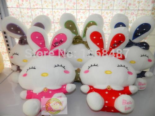 Free shipping 38cm easter bunny plush toy rabbit stuffed animal doll valentine day gift(China (Mainland))