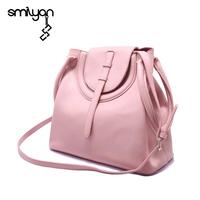 Smilyan casual genuine leather candy color tote hand bag women shoulder bags fashion bolsas femininas high quality women handbag