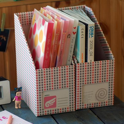 Как сделать из коробки подставку для книг своими руками