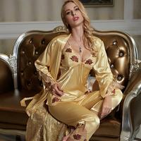 pajamas set for women new 2015 sexy satin home clothing blue sleep lounge pijama women pyjamas pajama sets sleepwear nightgown