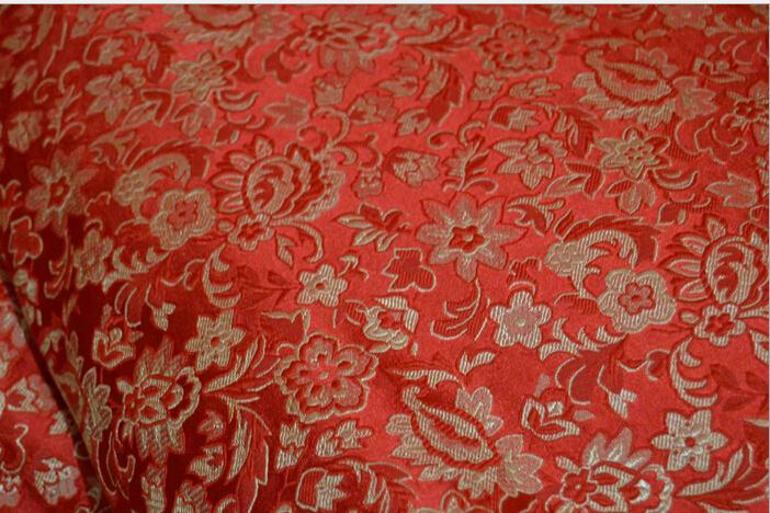 Brocade fabric tangzhuang fabric cloth tang suit women's silk fabric(China (Mainland))