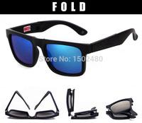 Brand newest unisex fold fashion sunglasses for women folding eyewear easy portable eyeglasses men driving sun glasses 15 colors