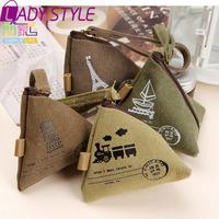 fashion dumplings coin purse canvas triangle key bag card holders women wallets day clutch new 2015 HL3611
