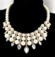 4 Color Crystal Jewelry Brand Designer Women Collars Three Layer Beads Fashion Choker Statement Necklaces Accessories