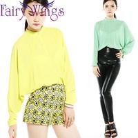2015 Women Blouses Chiffon Blouse Long Sleeve Blusas High Quality Spring Summer Shirt Blusas Femininas Casual Shirt Tops PH3023