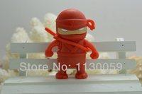 Big promotion Japan Red Ninja usb flash Drive Card Memory 32GB 16GB 8GB 4GB 2GB Cartoon pen drive S207