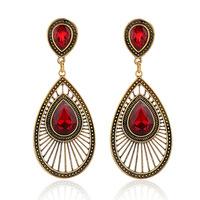 Fashion statement Vintage big Drop earrings European drop-shaped Peacock tail blue crystal earring for women jewelry ER-027931