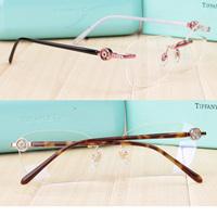 2015 eyeglasses frame tf optical frame 2137 classic round buckle rimless metal oculos de grau women