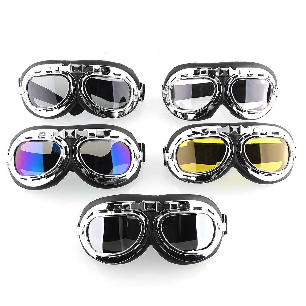 Vintage Style Aviator Pilot Cruiser Motorcycle Biking Goggles Helmet Glasses New(China (Mainland))