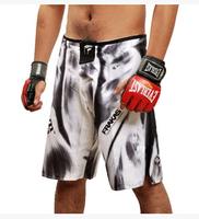 2015 hot mma shorts boxing trunks sport clothes man muay thai shorts multiple style men's mma clothing Black white M - XXXL