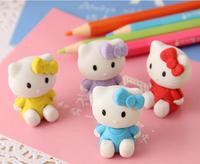 4X Hello Kitty Rubber borracha Erasers for Kids Gift Cute School Supplies borracha escolar gomas de borrar stationery products