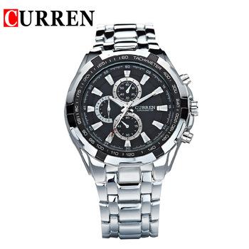 Relogios masculinos 2015 Curren люксовый бренд часы мужчины мода часы кварцевые бизнес свободного покроя наручные часы полный стали мужчины часы
