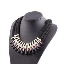 2015 NEW Bohemia Style Hand-woven Bib Statement Collar Beaded Choker Necklace Fashion Jewelry For Women Wholesale #2560