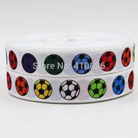 WM ribbon 7/8inch 22mm 150210001 colorful football Printed grosgrain ribbon 50yds/roll free shipping