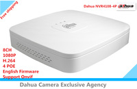 2015 NEW Dahua NVR NVR4108-4P 1080P H.264 8CH 4 POE Network Video Recorder English Firmware Support Onvif Free shipping