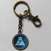 Wholesale 6$ Fall Out Boy Keyring Fantasy Key Chain Art Glass Pendant Cute Keychain Gift lot Fashion Victoria Frances