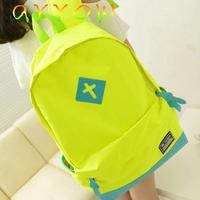 Korean school candy cross fluorescent backpacks 2015  fashion men and women backpack  B-167