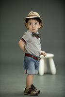 Wholesale New Fashion Boy Clothing Sets Summer Children Short Sleeve Outfits Hat+Tee Shirt+Tie+Denim Short Brand Style Kid Wear