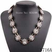 2015 new fashion necklace collar Necklaces & Pendants trendy crystal pendant choker collar statement crystal necklace for women