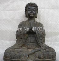 "[wholesale_jewelry_wig ] 16""Tibet Monastery Classical Bronze Tathagata Sakyamuni Buddha Statue"