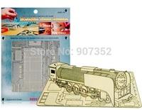 3D Puzzle DIY Assemble Metal Nano Steam Train Model Jigsaw Puzzle Gift DIY Decorationfree shipping