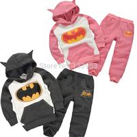 2015 (5 Sets/lot)New Arrival Autumn Boys and Girls hoodie  the Batman Children Tracksuit Kids Clothing Suit [CS-004]