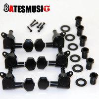 BLACK 6 right TWIST LOCK Electric GUITAR Tuning Pegs