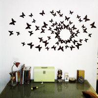 24pcs set 3D Wall Stickers Butterflies Modern Home Room DIY Decor Sticker PF