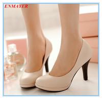 ENMAYER thin heels 2015 platform pumps round toe fashion for spring-autumn women pumps three colors size 34-39 shoes for ladies