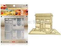 DIY model Build Metal 3D Models Metallic Nano Puzzle DIY 3D ARC DE TRIOMPHE Laser Cut 3D Model,free shipping