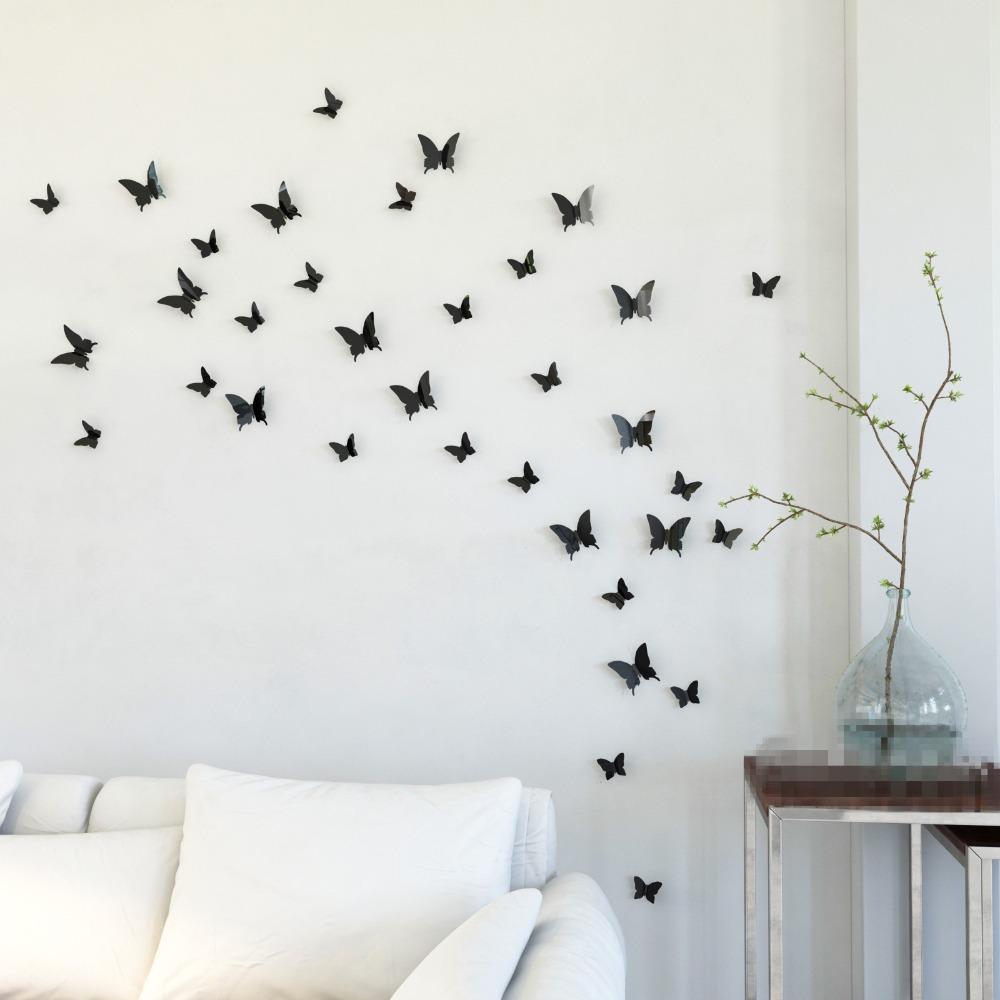 Ysk shop mariposa in gossip girl 3d black butterfly wall for Art decoration wall