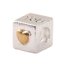 free shipping 925 Fashion Bead Charm You Heart Bead European Silver Bead Fit Pandora Bracelet H268