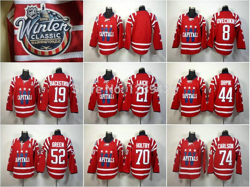 Cheap 2015 Washington Ice Hockey Jersey Blank Alexander Ovechkin #8 etc Red Winter Stitched Authentic Sports Sweatshirt(China (Mainland))