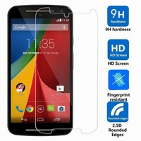 Toughened Tempered Glass LCD Screen Protector w/ Storage Box Package for Motorola MOTO G2 G 2 protective film pelicula de vidro