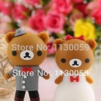Spring romance wedding bear memory disk couple USB 2.0memory disk 2G- 32G momery stick pen drive thumb gift usb S255
