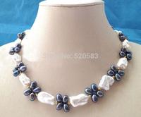 "Beautiful 18"" 21mm white Reborn Keshi baroque FW pearl necklace"