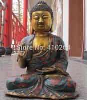 [wholesale_jewelry_wig ] Tibet Classical Bronze cloisonne Sakyamuni Shakyamuni Tathagata Buddha Statue
