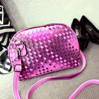 2015 new women's spring handbag knitted messenger  fashion evening bag women's shell mini bags