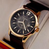 Luxury Brand Fashion CURREN Men Dress genuine Leather Quartz Watches high quality sports Military Big Dail With Calendar relogio