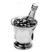 Free Shipping 1pc 925 Silver Bead Charm European hampagne Wine Silver Bead Fit pandora Bracelet H584 Free Shipping