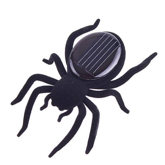 Novelty Toys New High Quality Solar Power 8 Legs Black Crazy Spider Children Toy Solar Energy toy(China (Mainland))