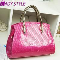 fashion embossed women handbag patent leather messenger bags handbags women famous brands new 2015 HL3614