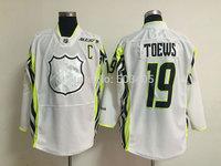 2015 all star Chicago Blackhawks  #19 TOEWS home white hockey Jerseys, mix order