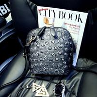 2015 new women's handbags all-match the trend of the shoulder  skull bag shell Small spring mini cross-body bags